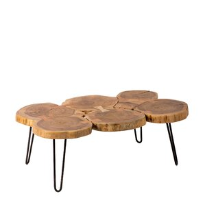 Gallagher Natural Trunk Coffee Table by Union Rustic