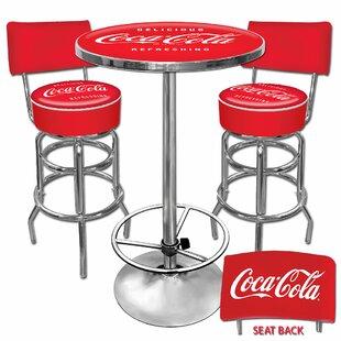 Coca Cola 3 Piece Pub Table Set