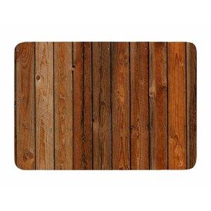 Rustic Wood Wall by Susan Sanders Memory Foam Bath Mat