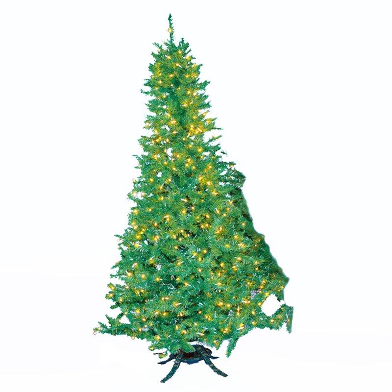 Kurt Adler 10' Sugar Pine Prelit Slim Christmas Tree With 1300