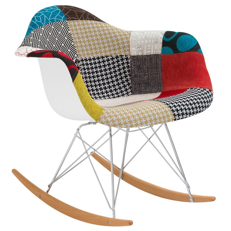 Padded Patchwork Rocking Chair