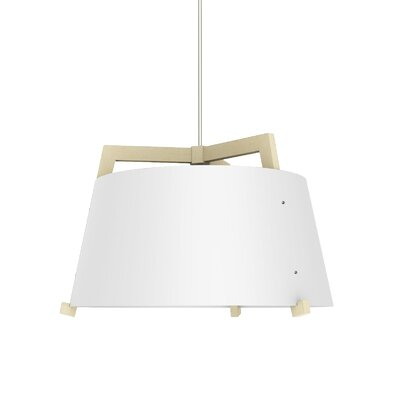 Ignis 3-light Drum Chandelier Cerno Finish: Maple/gloss White