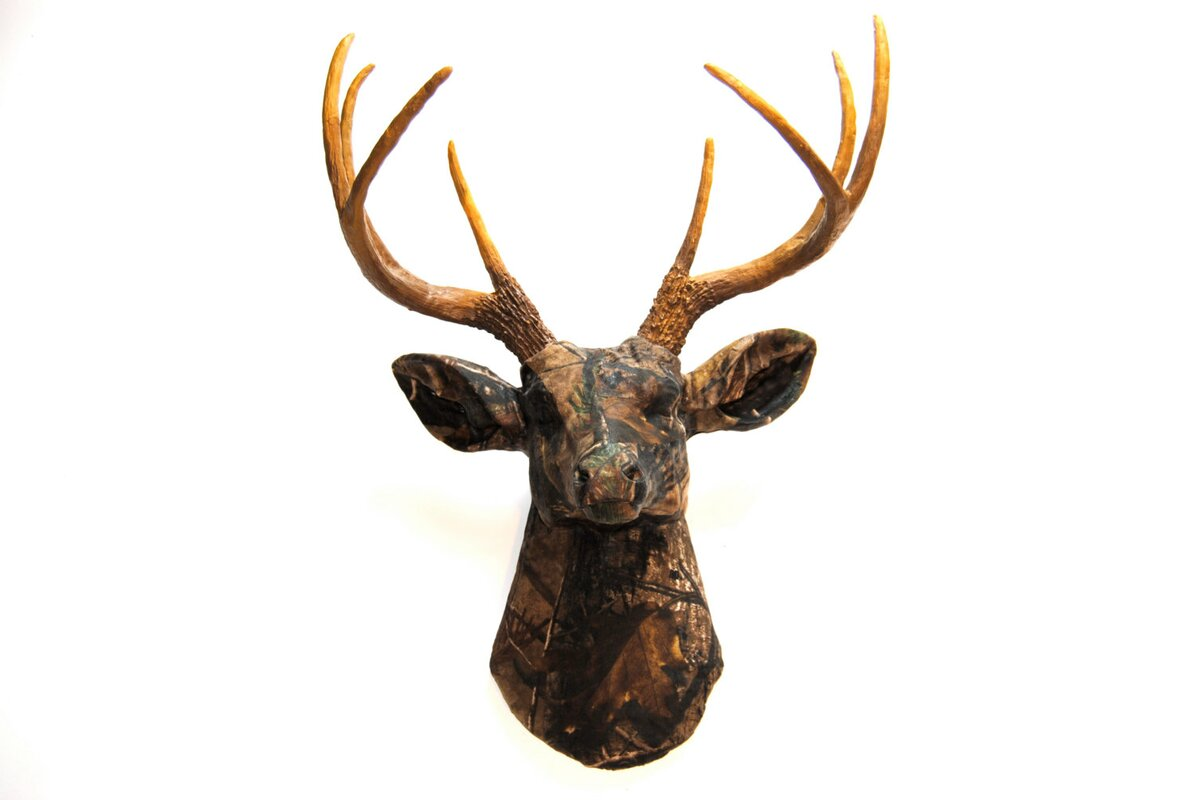 Faux Taxidermy Authentic Fabric Deer Head Wall Décor