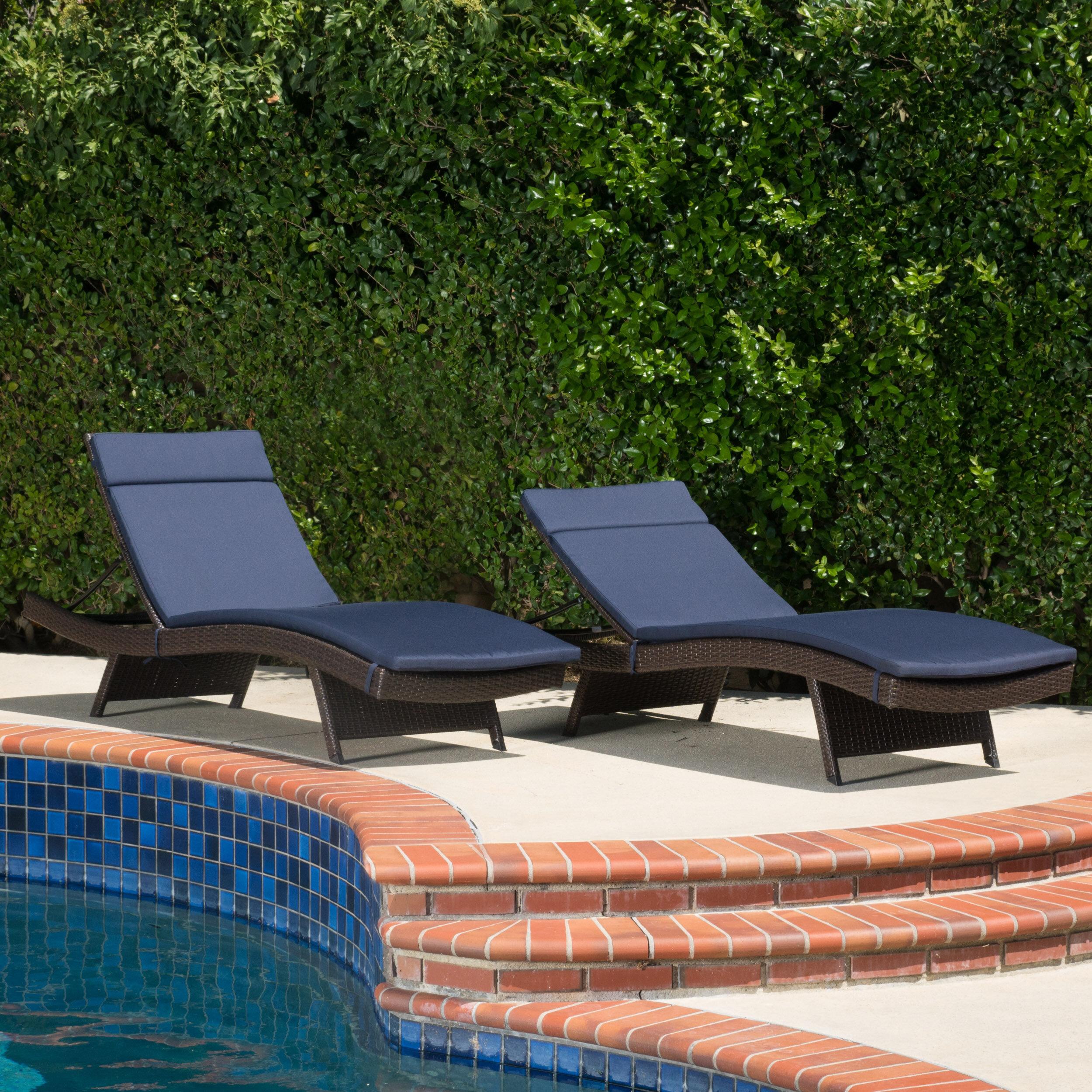 Brayden Studio Cara Indoor Outdoor Lounge Chair Cushion Wayfair