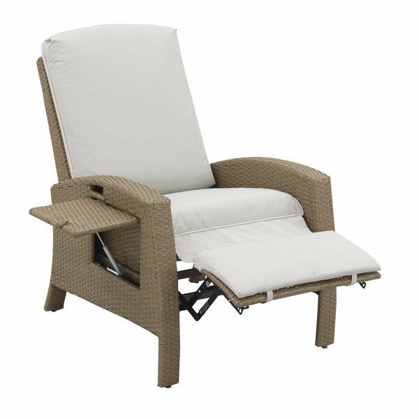 Outsunny Rattan Wicker Recliner Outdoor/Indoor Chair With Cushion U0026 Reviews    Wayfair.ca
