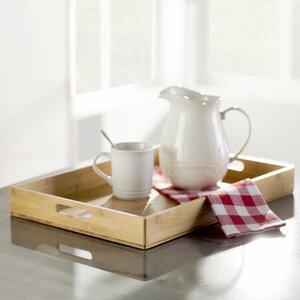 Wayfair Basics Rectangular Bamboo Serving Tray