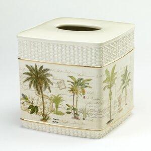 Colony Palm Tissue Box Cover