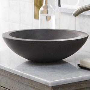 morro stone circular vessel bathroom sink - Stone Vessel Sinks