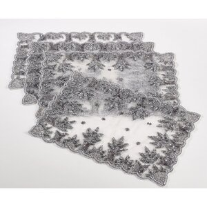 Burna Hand Beaded Design Placemat (Set of 4)