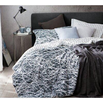 Trent Austin Design Calanthe 100% Cotton Reversible Bedding Set Size: King, Product Type: Duvet Set