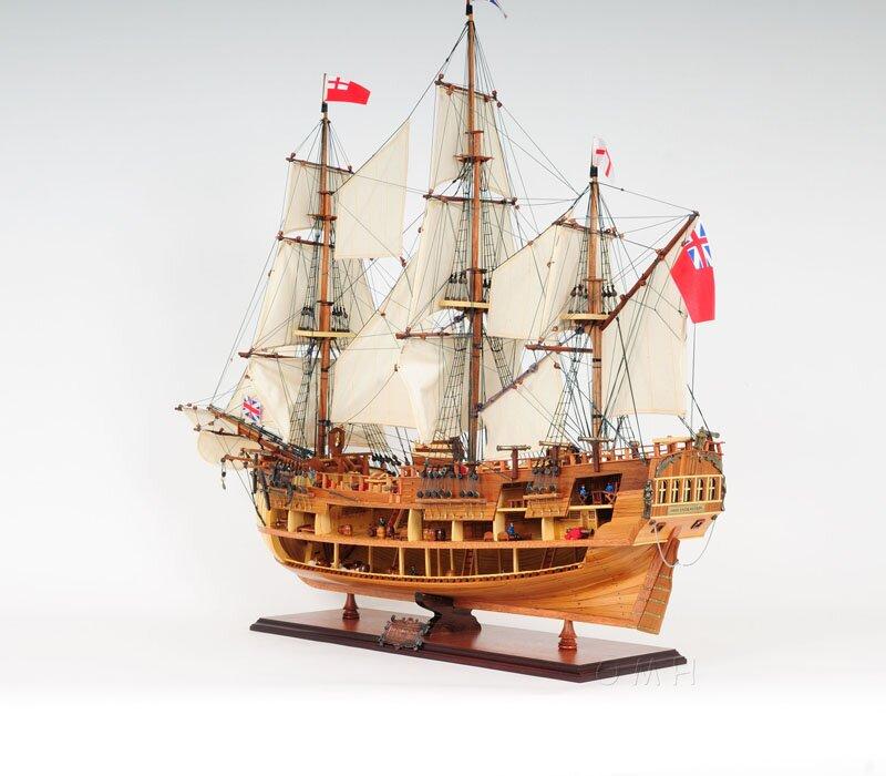 HMS Endeavour Open Hull Ship