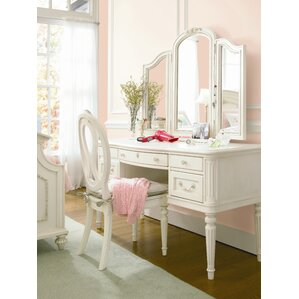 Chassidy Vanity Desk with Hutch by Harriet Bee