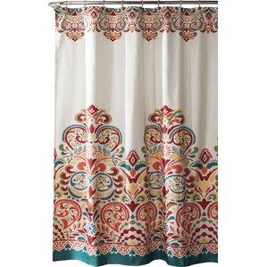 brown and orange shower curtain. Pierre Shower Curtain Orange Curtains You ll Love  Wayfair