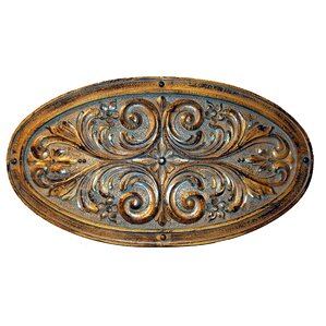 Traditional Oval Fl Leaf Plaque Wall Décor