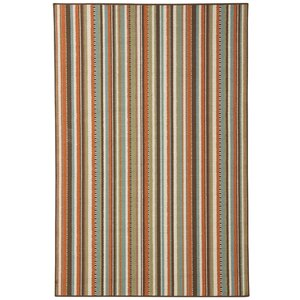 Exeter Brown/Orange Indoor/Outdoor Area Rug