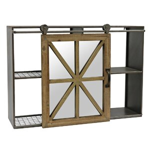 Puneeth Barn Door Wall Shelf