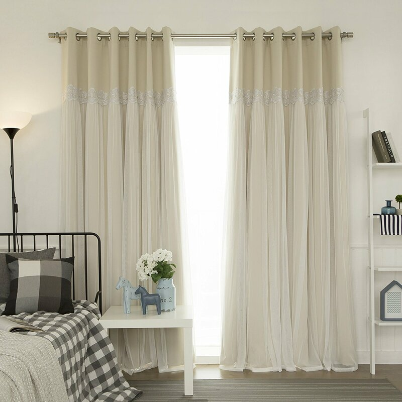 home fashion design. Pauley Best Home Fashion Pleated Tulle Lace Solid Blackout Curtain Panels One Allium Way