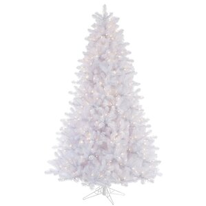 65 white crystal artificial christmas tree 550 multi color lights with stand - White Christmas Tree With Colored Lights