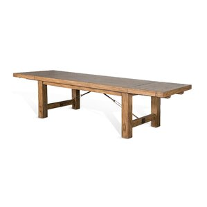 Joliette Dry Leaf Extendable Dining Table by Loon Peak
