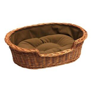 Pet Basket Bed in Brown by Prestige Wicker