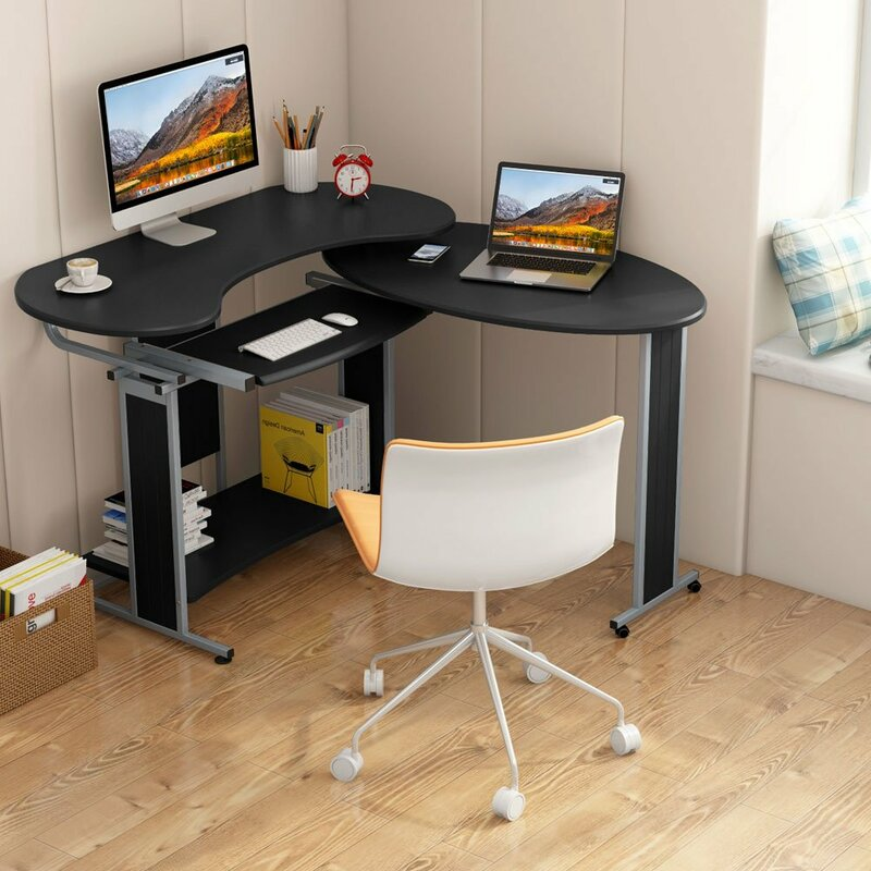Magnificent Heatherly Rotating Reversible L Shaped Computer Desk Complete Home Design Collection Papxelindsey Bellcom