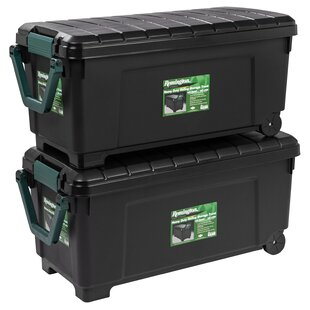 Wonderful 42 Gallon Heavy Duty Storage Trunk With Wheels (Set Of 2)