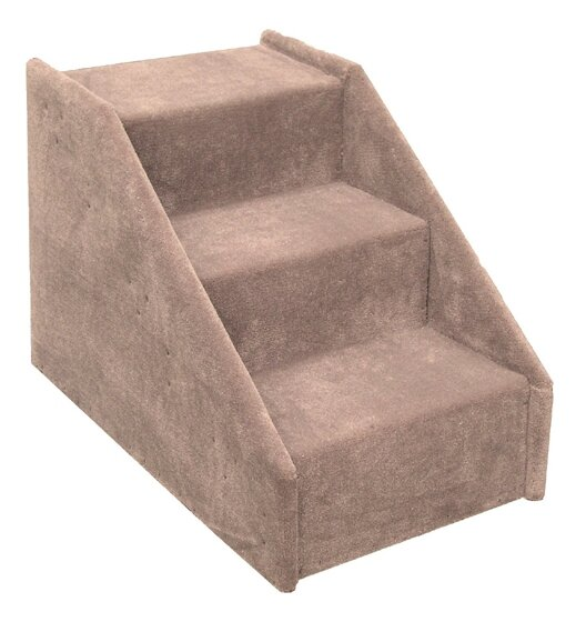 Superior Dog Stairs Carpeted 3 Step Pet Stair