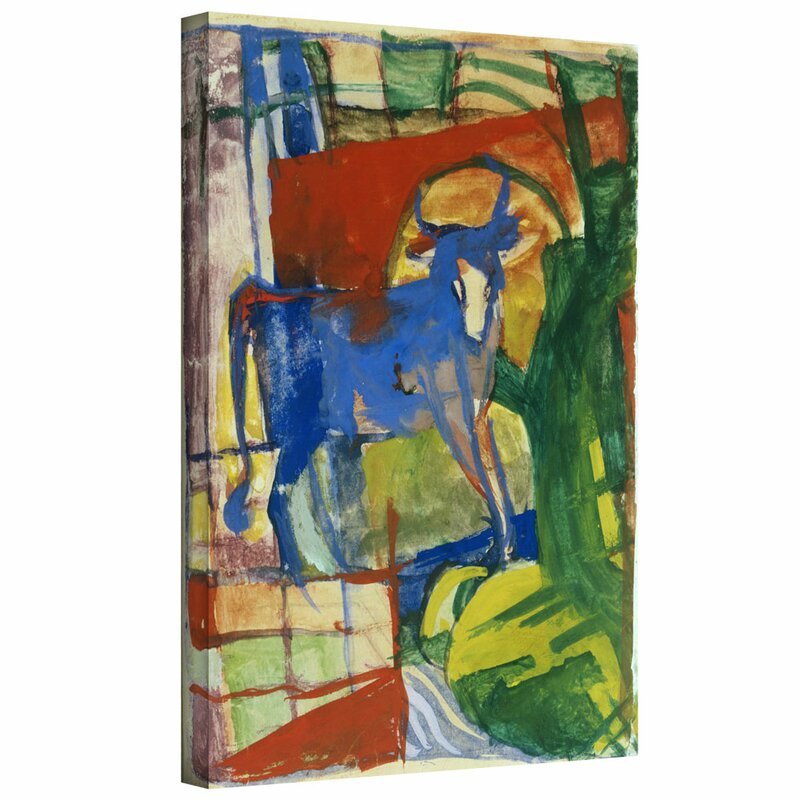 Artwall Blue Cow By Franz Marc Painting Print On Wrapped
