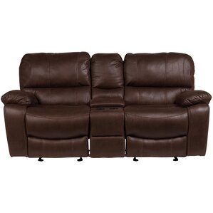 Gracehill Modern Solid Reclining Loveseat by Three Posts
