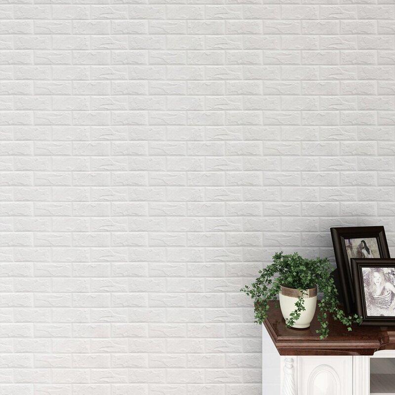 3d Brick 32 L X 28 W Paintable Peel And Stick Wallpaper Tile