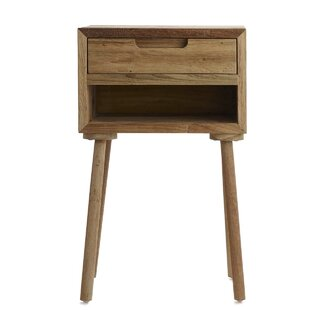 Olly Tall End Table with Storage  sc 1 st  Wayfair & Tall Side Table With Storage | Wayfair