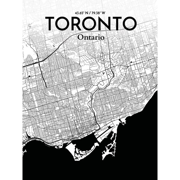 Ourposter Com Toronto City Map Graphic Art Print Poster
