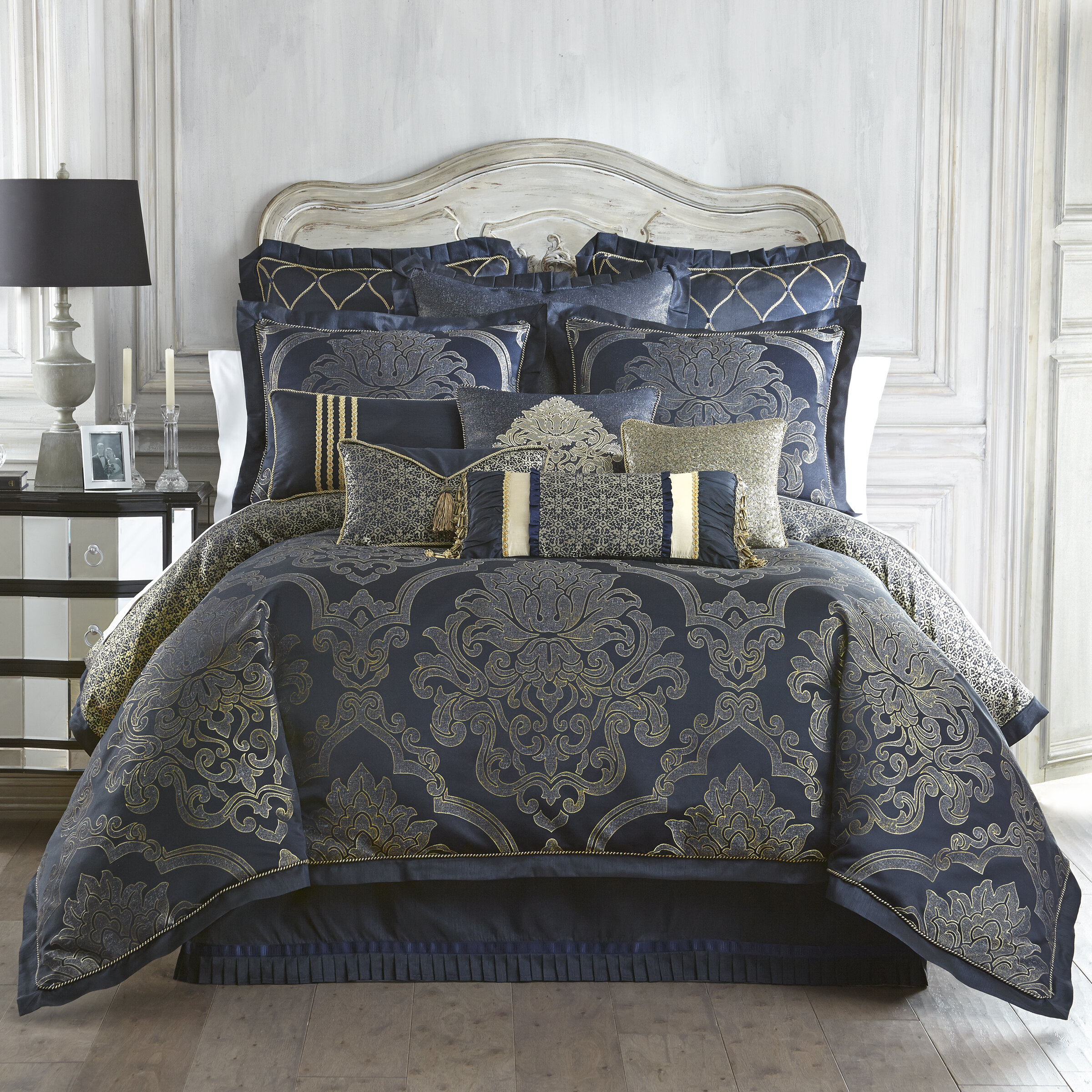 harbor set house blue brown queen navy king comforter chelsea waterford paisley tan lakota