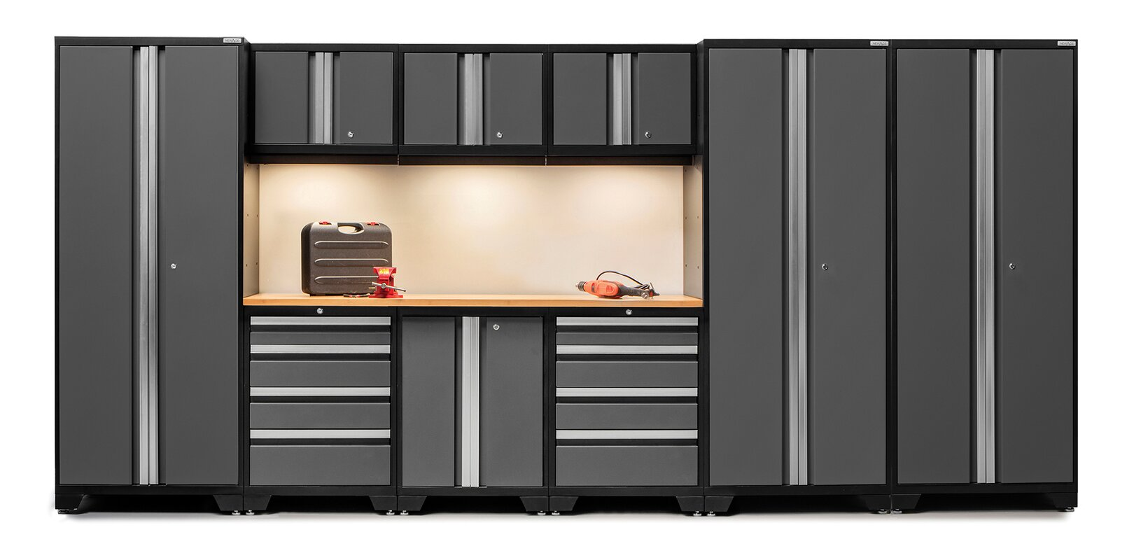Bold 3.0 Series 10 Piece Garage Storage Cabinet Set with Worktop