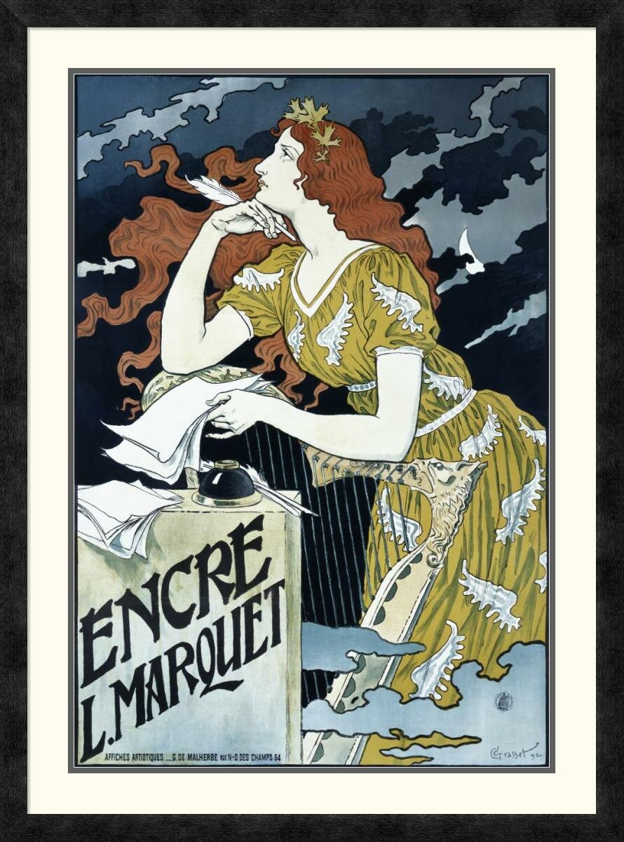 Global Gallery Encre L Marquet By Eugene Grasset Framed