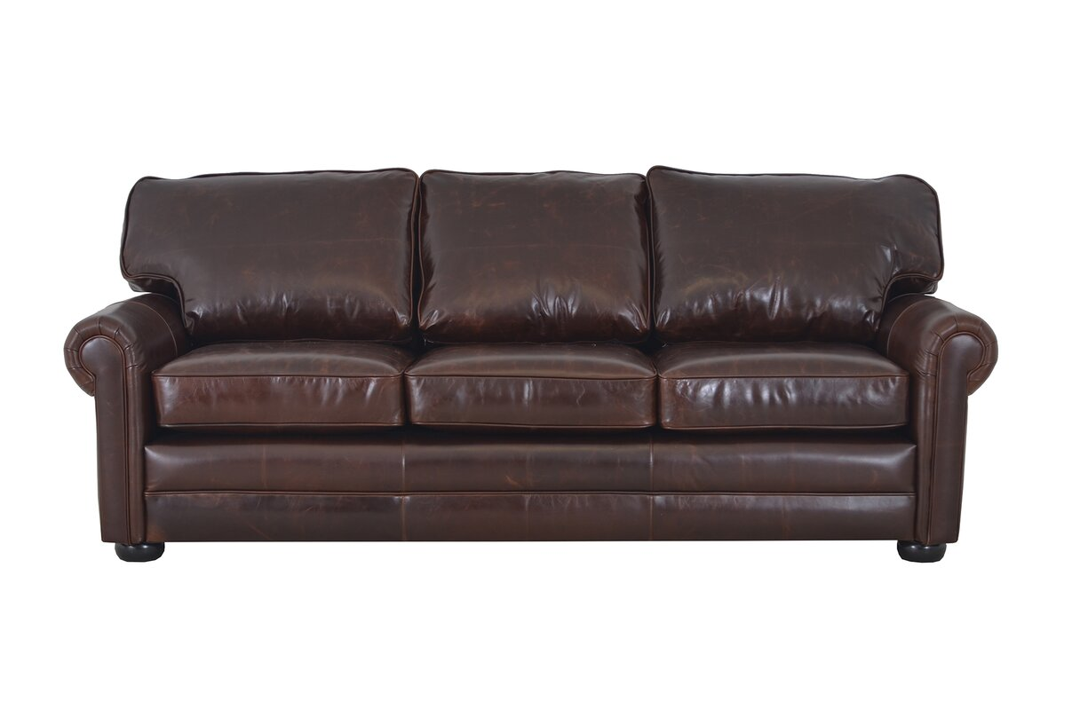 Fenway Studio Genuine Top Grain Leather Sofa