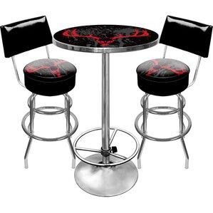 Hunt Skull Game Room 3 Piece Pub Table Se..