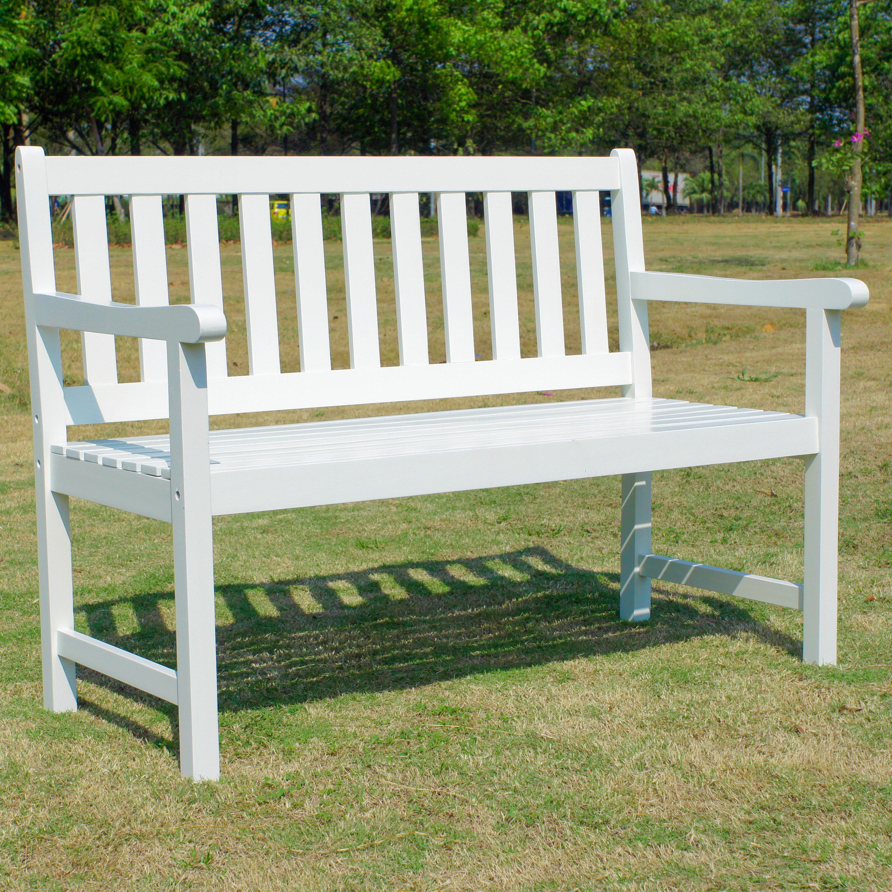 Almaden Wooden Garden Bench