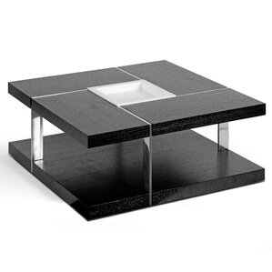 Aira Square Coffee Table with Tray Top by Glamour Home Decor