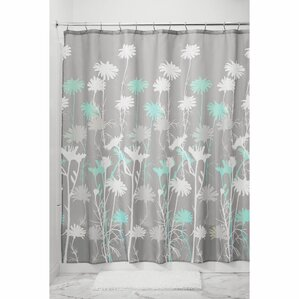 gray and green shower curtain. Daizy Shower Curtain Green Curtains You ll Love