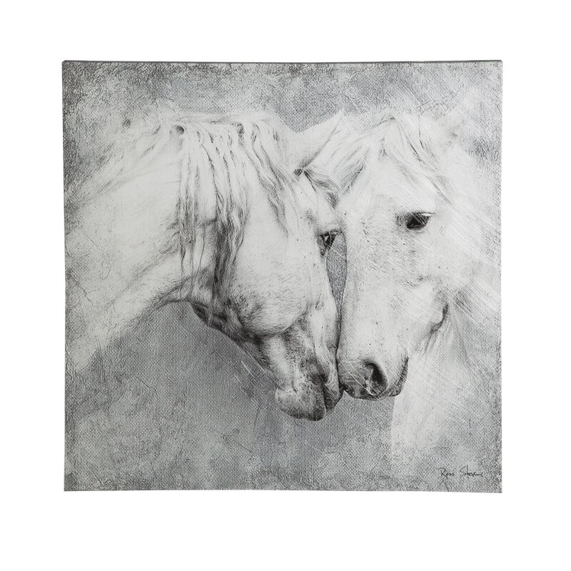 Meeting Horses\' Framed Painting Print on Canvas & Reviews | Joss & Main