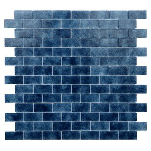 Quartz 0 75 X 1 63 Gl Mosaic Tile In Dark Blue
