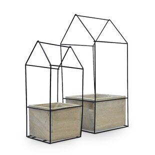 Blanche 2 Piece Terrarium Set by Laurel Foundry