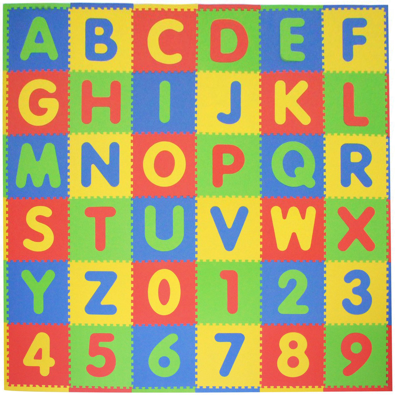 Tadpoles Abc 36 Piece Playmat Set Reviews Wayfair Puzzle Knob