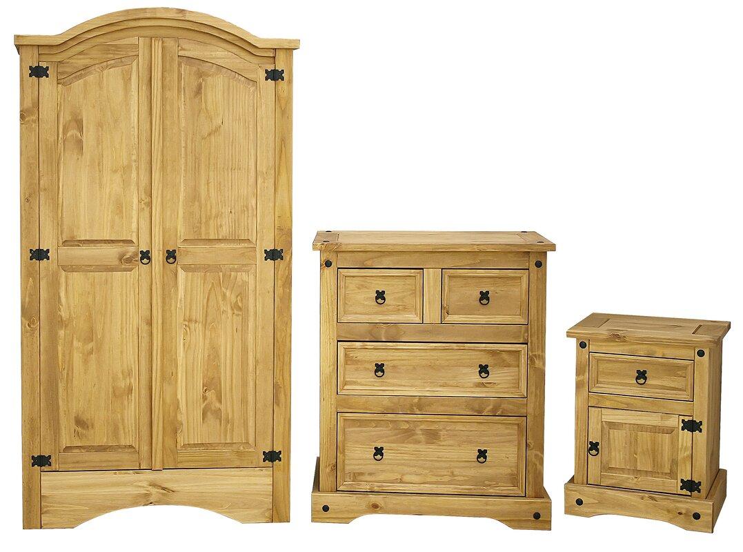 Rustic Corona 3 Piece Bedroom Set