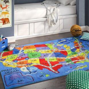 Corina Travel Map Area Rug