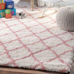 kellie handtufted baby pink area rug