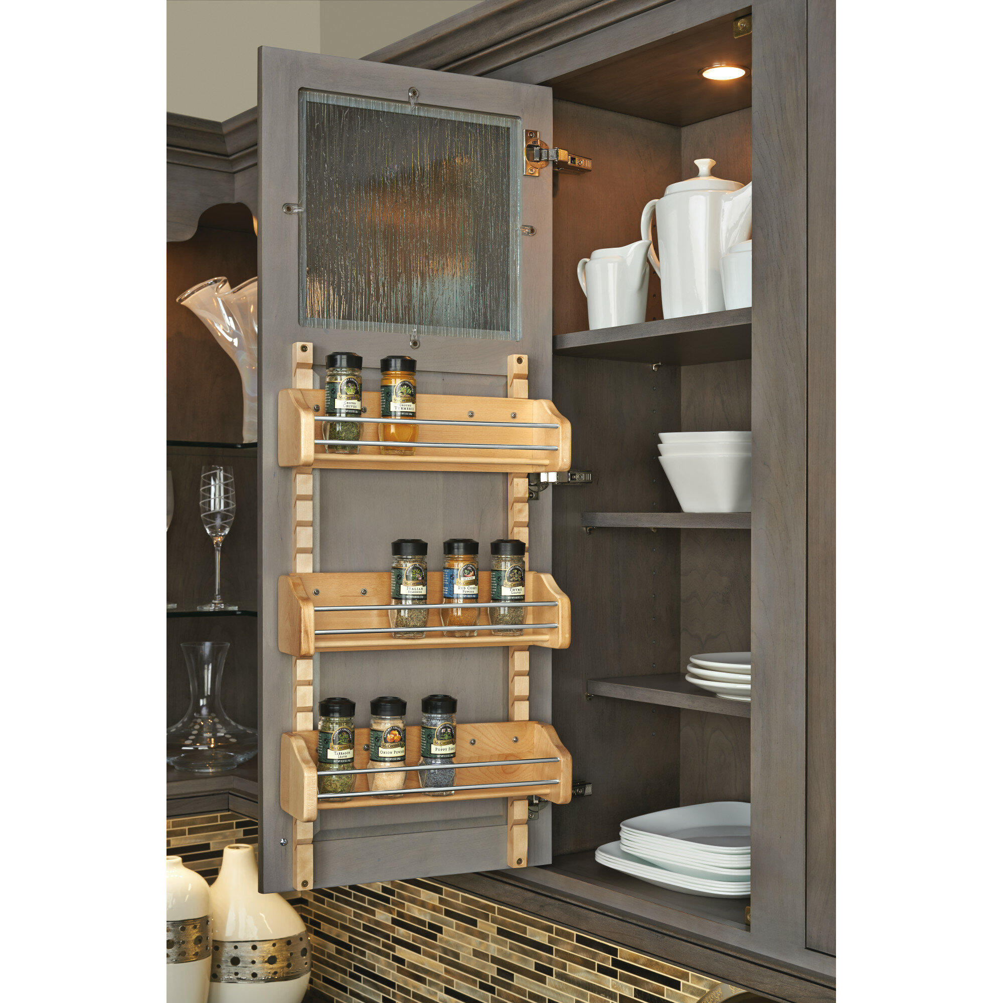 Charmant Rev A Shelf Adjustable Mount Spice Rack Cabinet Door Organizer U0026 Reviews |  Wayfair
