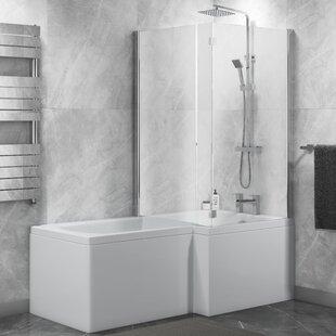 L Shaped Shower Screen | Wayfair.co.uk on closet bathroom, tent bathroom, bamboo floor bathroom, small bathroom, galley bathroom, kitchen bathroom, executive bathroom, storage bathroom, office bathroom, lean to bathroom, clear bathroom, sunken bathroom, square bathroom, laminate flooring bathroom, dressing room bathroom, metal bathroom, suite bathroom, remodeled bathroom, wood floors bathroom, large bathroom,