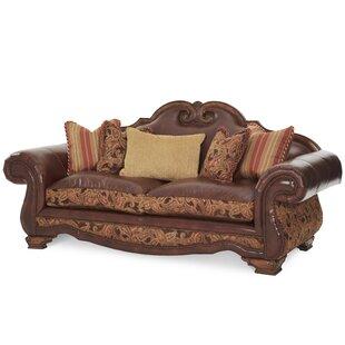 Beautiful Toscano High Back Leather Sofa